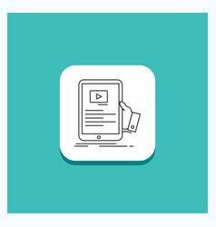 round button for forum online webinar seminar vector image