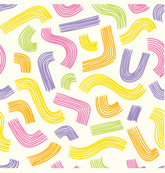 seamless minimal abstract colorful pattern vector image
