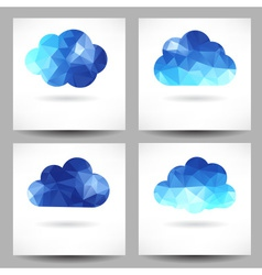 Set of backgrounds with triangular clouds vector image