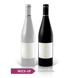 set of cocktail bottles vector image