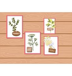 Set of floral designs vector