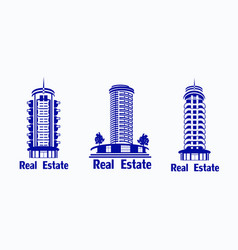 Set of icons real estate icons of vector