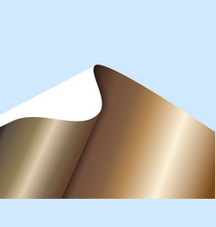 Sheet of bronze paper with a curl vector