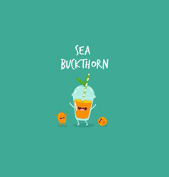 smoothie sea buckthorn vector image