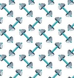Sports seamless pattern with dumbbells vector