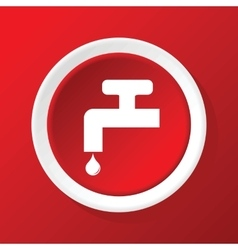 Tap icon on red vector