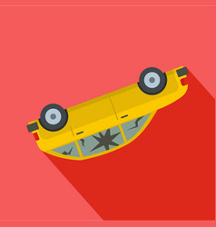 turned car icon flat style vector image