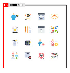 Universal icon symbols group 16 modern flat vector