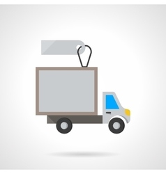 Van for rent flat color icon vector image