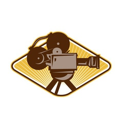 Vintage Movie Film Camera Retro vector image vector image