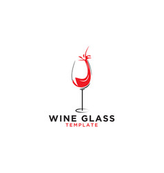 wine glass graphic design template vector image