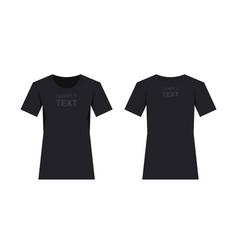 Womens black t-shirt design template vector