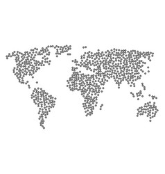 World map mosaic of searchlight icons vector