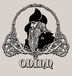 Wotan odin god wisdom poetry and war vector