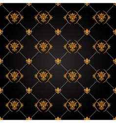 black and gold pattern vector image