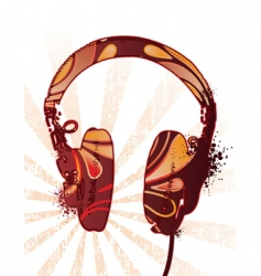 decorated headphones vector image