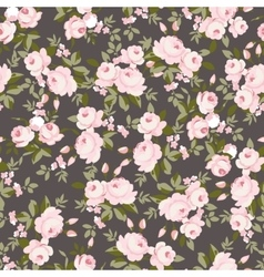 Floral pattern with little pink roses vector image vector image