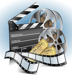 Movie related item set vector image vector image