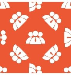 Orange user group pattern vector image
