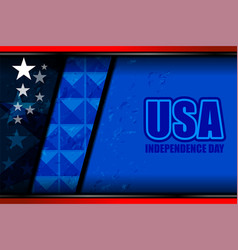 usa flag backgrounds template vector image