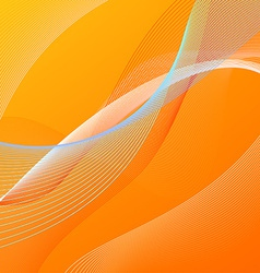 Abstract background with orange and blue lines vector image vector image