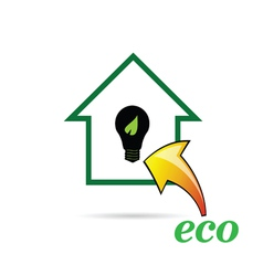 eco bulb and house vector image vector image
