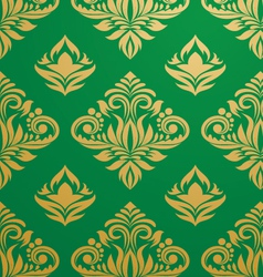 gold-green-pattern vector image vector image