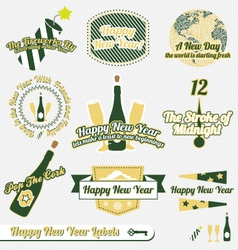 Happy New Year Labels vector image