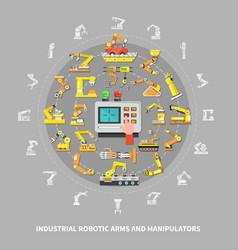 robotic arm industrial composition vector image