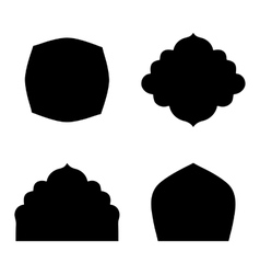 Set of farmes silhouette vector image vector image
