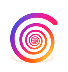 spiral color rainbow on the white background vector image