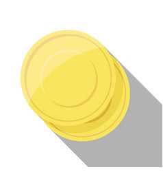 gold coin stacks on white background vector image vector image