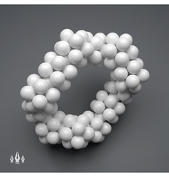 3D Molecule Structure Technology Style vector image