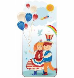 American kids vector image vector image