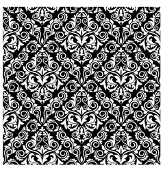 floral damask seamless pattern vector image