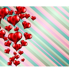 Happy Valentines Day background with lovely Hearts vector image