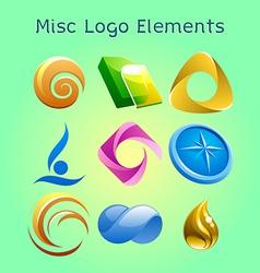 miscellaneous logo elements vector image