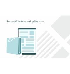 on website online store vector image