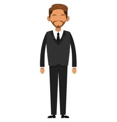 Tan businessman with beard icon vector