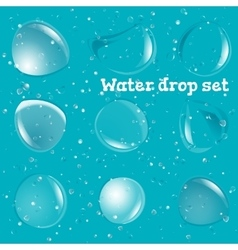 Transparent Pure Clear Water Drops Realistic Set vector image vector image