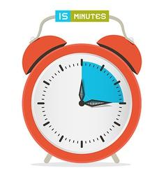 15 - fifteen minutes stop watch - alarm clock vector
