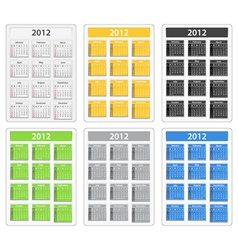 2012 calendars vector image
