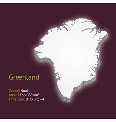 3d map of Greenland vector