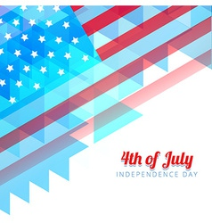 abstract style independence day background vector image