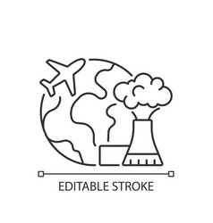 Atomic tourism linear icon vector