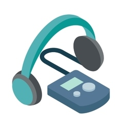 Audio guide icon isometric 3d style vector image