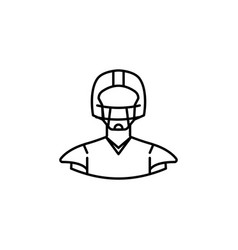 avatar american football outline icon signs and vector image
