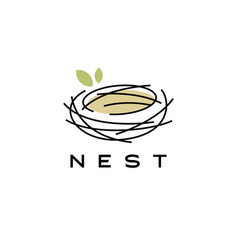 bird nest logo icon vector image