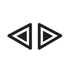 Black arrows icon vector
