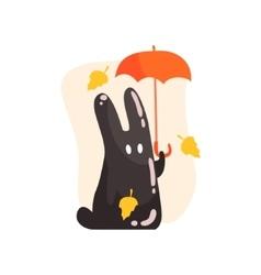 Black Tar Jelly Rabbit Shape Monster Holding vector image